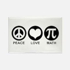 Peace Love Math Rectangle Magnet