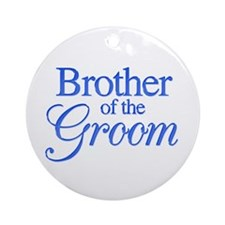 Brother of the Groom (blue) Ornament (Round)