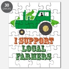 I Support Local Farmers Puzzle