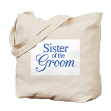 Sister of the Groom (blue) Tote Bag