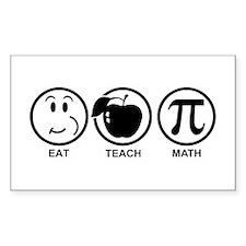 Math Teacher Decal