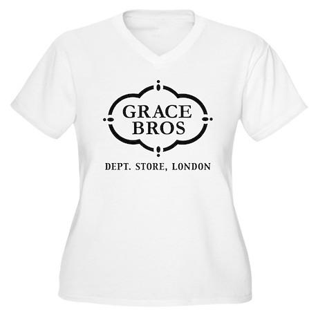 Grace Brothers Women's Plus Size V-Neck T-Shirt