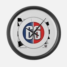 Cars Round Logo 66 Large Wall Clock