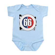 Cars Round Logo 66 Infant Bodysuit