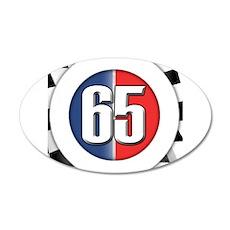 Cars Round Logo 65 22x14 Oval Wall Peel