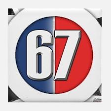 Cars Round Logo 67 Tile Coaster