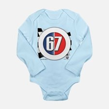 Cars Round Logo 67 Long Sleeve Infant Bodysuit