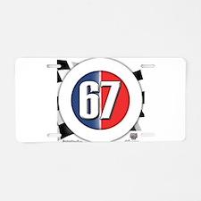 Cars Round Logo 67 Aluminum License Plate