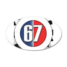 Cars Round Logo 67 22x14 Oval Wall Peel