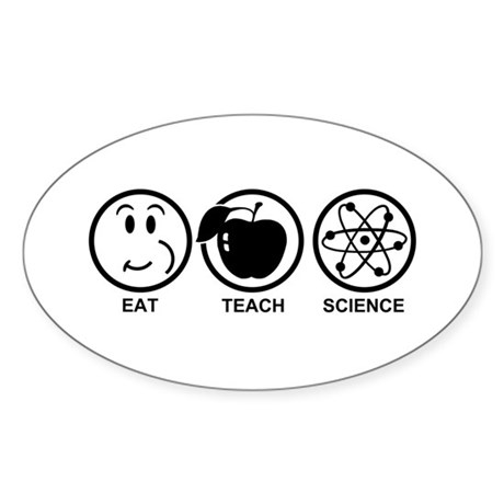 Science Teacher Sticker (Oval)