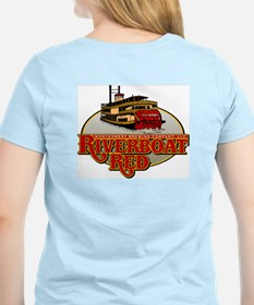 RiverBoat Red Women's Pink T-Shirt