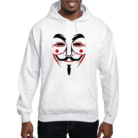 Guy Fawkes - Anonymous Mask Hooded Sweatshirt