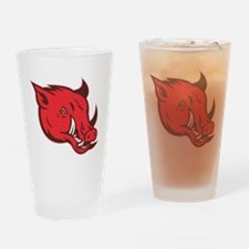 wild pig razorback Drinking Glass