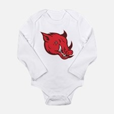 wild pig razorback Long Sleeve Infant Bodysuit