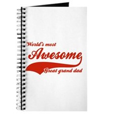 World's Most Awesome Great Grand dad Journal