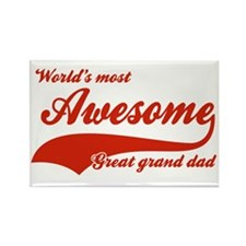 World's Most Awesome Great Grand dad Rectangle Mag