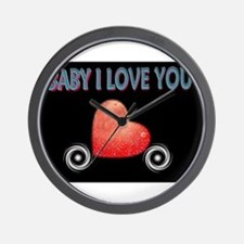 Jmcks Baby I love you Wall Clock
