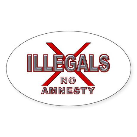IllegalsX D21 mx2 Oval Sticker