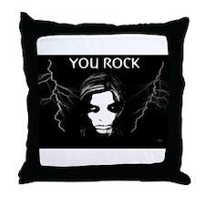 Jmcks You Rock Throw Pillow