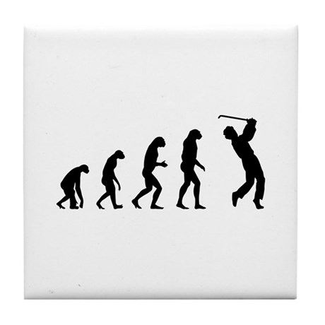 Evolution golfing Tile Coaster