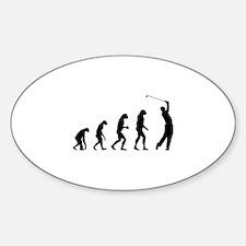 Evolution golfing Sticker (Oval)