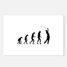 Evolution golfing Postcards (Package of 8)