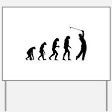 Evolution golfing Yard Sign