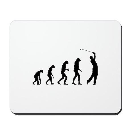 Evolution golfing Mousepad