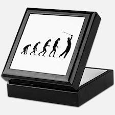 Evolution golfing Keepsake Box