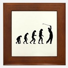 Evolution golfing Framed Tile