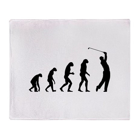 Evolution golfing Throw Blanket