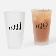 Evolution golfing Drinking Glass