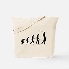 Evolution golfing Tote Bag