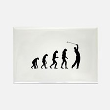 Evolution golfing Rectangle Magnet