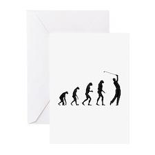 Evolution golfing Greeting Cards (Pk of 10)