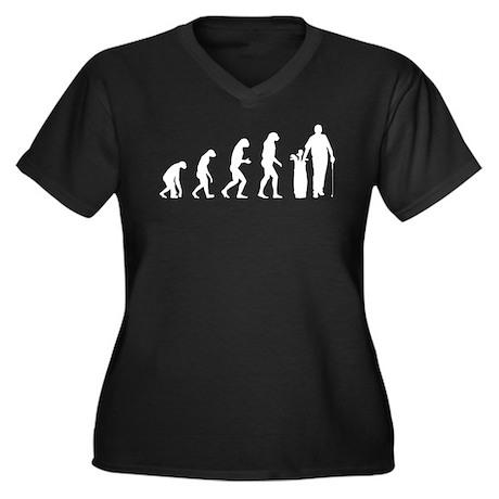 Evolution golfing Women's Plus Size V-Neck Dark T-