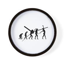 Evolution gymnastics Wall Clock