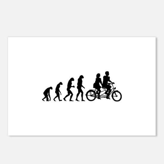 Evolution tandem Postcards (Package of 8)