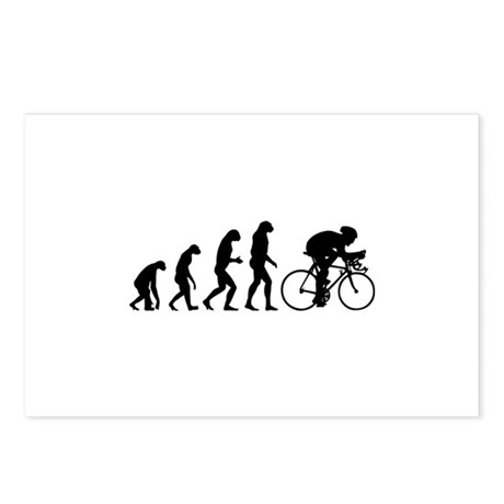 Evolution cyclist Postcards (Package of 8)