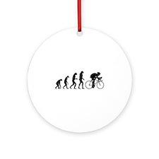 Evolution cyclist Ornament (Round)