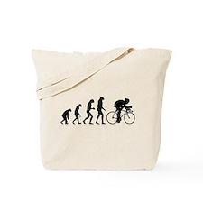 Evolution cyclist Tote Bag