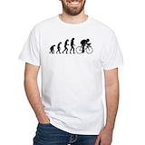 Evolution cyclist shirt Mens White T-shirts