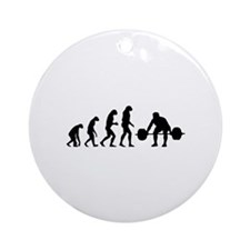 Evolution weight lifting Ornament (Round)