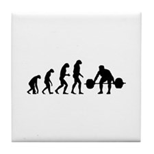 Evolution weight lifting Tile Coaster