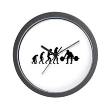 Evolution weight lifting Wall Clock