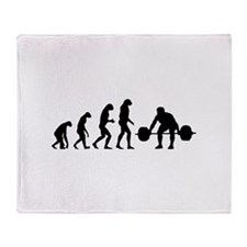 Evolution weight lifting Throw Blanket