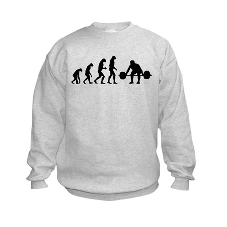 Evolution weight lifting Kids Sweatshirt