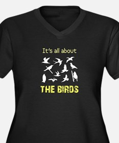 It's All About The Birds Women's Plus Size V-Neck