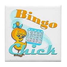 Bingo Chick #2 Tile Coaster