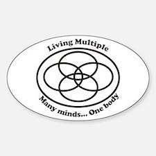 Living Multiple Sticker (Oval)